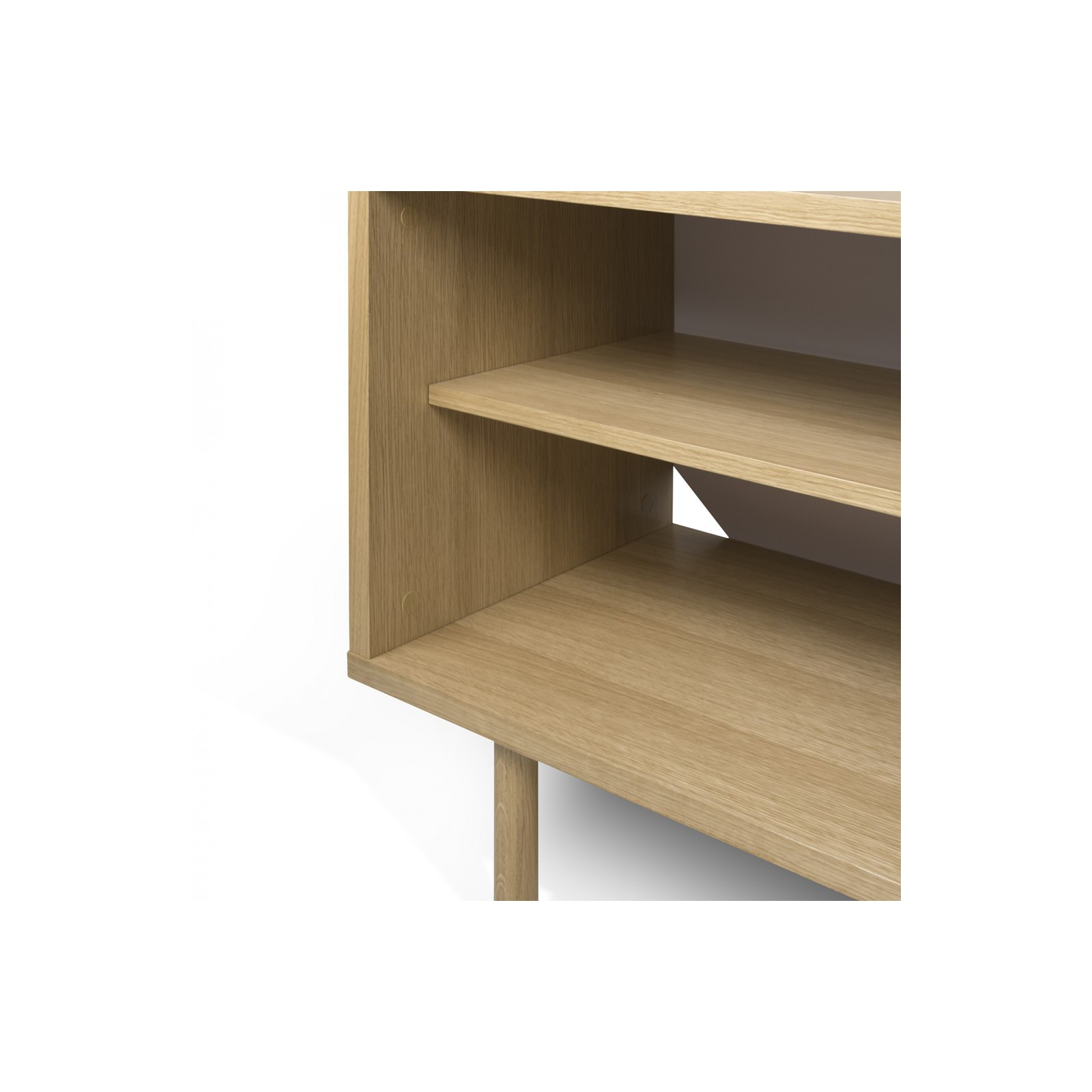 Meuble tv danois blanc et bois arne concept for Meuble tv blanc et bois