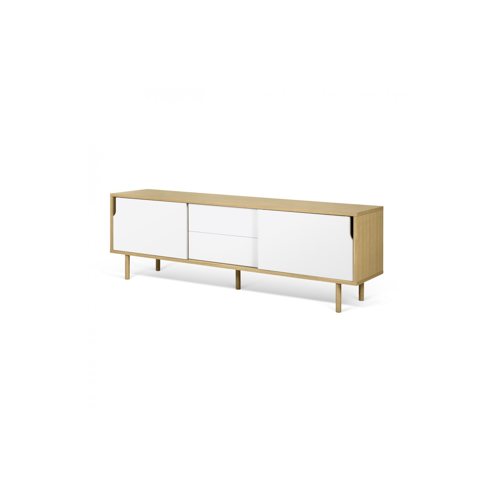 Meuble tv danois blanc et bois arne concept for Avis sur meubles concept