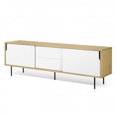 Meuble TV Danois blanc et bois
