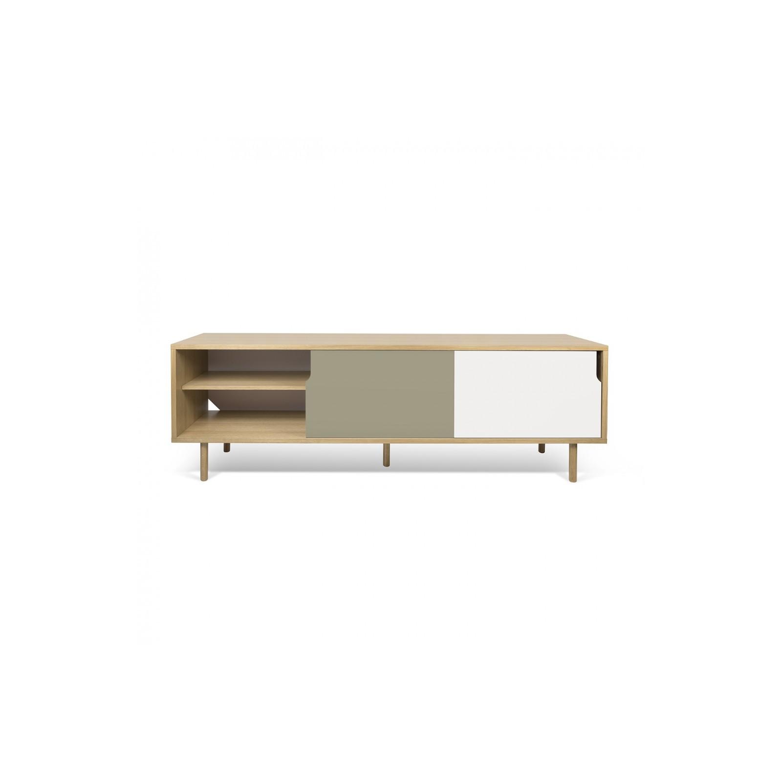 Meuble Tv Danois Gris Blanc Et Bois Arne Concept # Meuble Tv Beige Gris