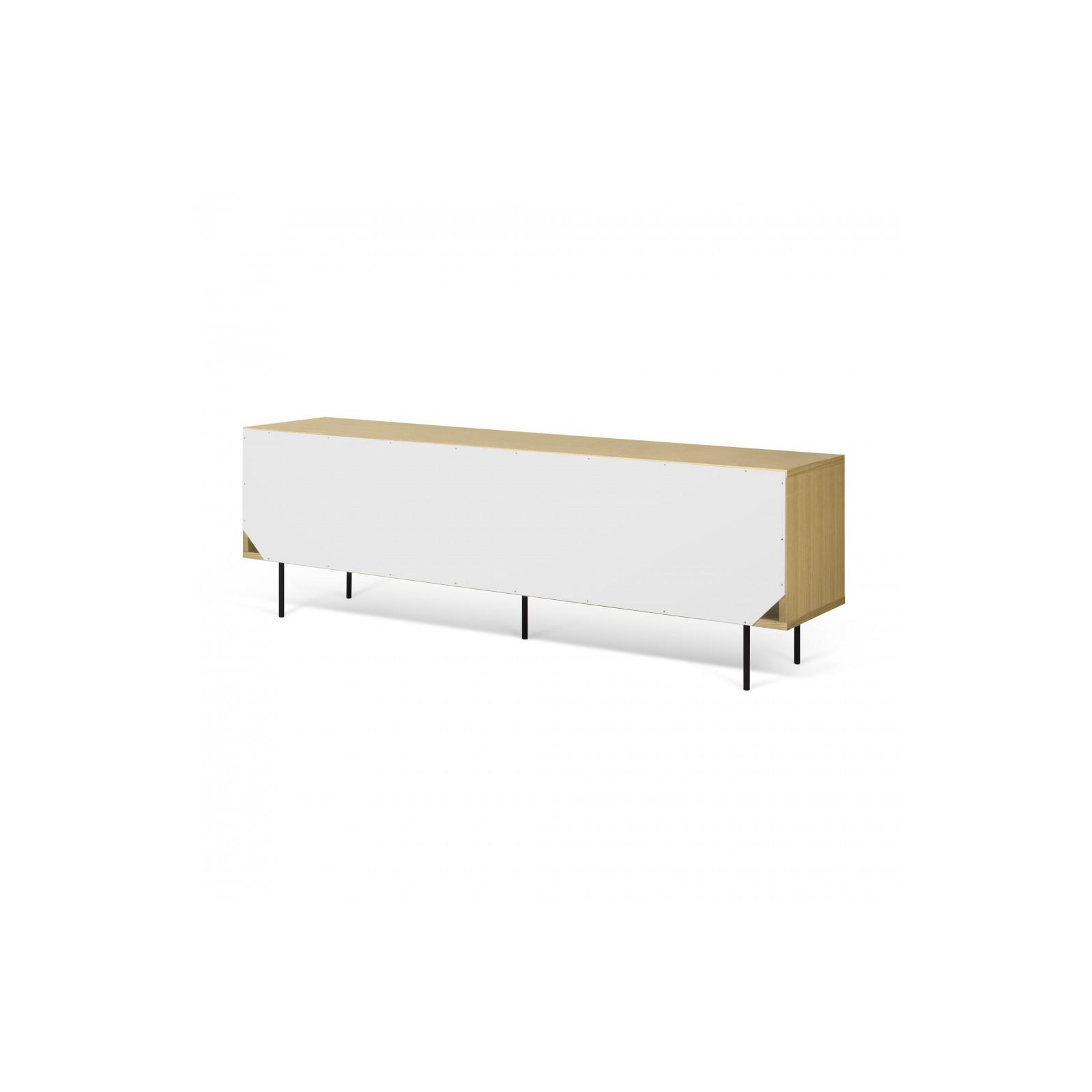 Meuble Tv Danois Gris Blanc Et Bois Arne Concept # Meuble Tv Blanc Et Gris
