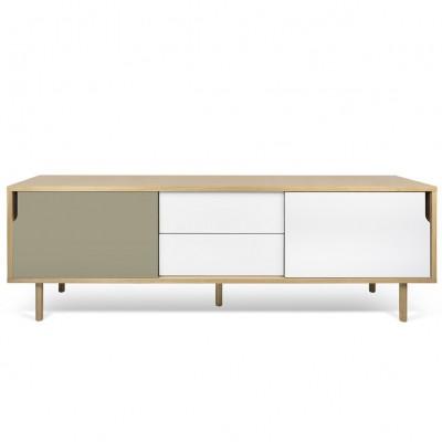 Dann sideboard 201 white, grey and wood