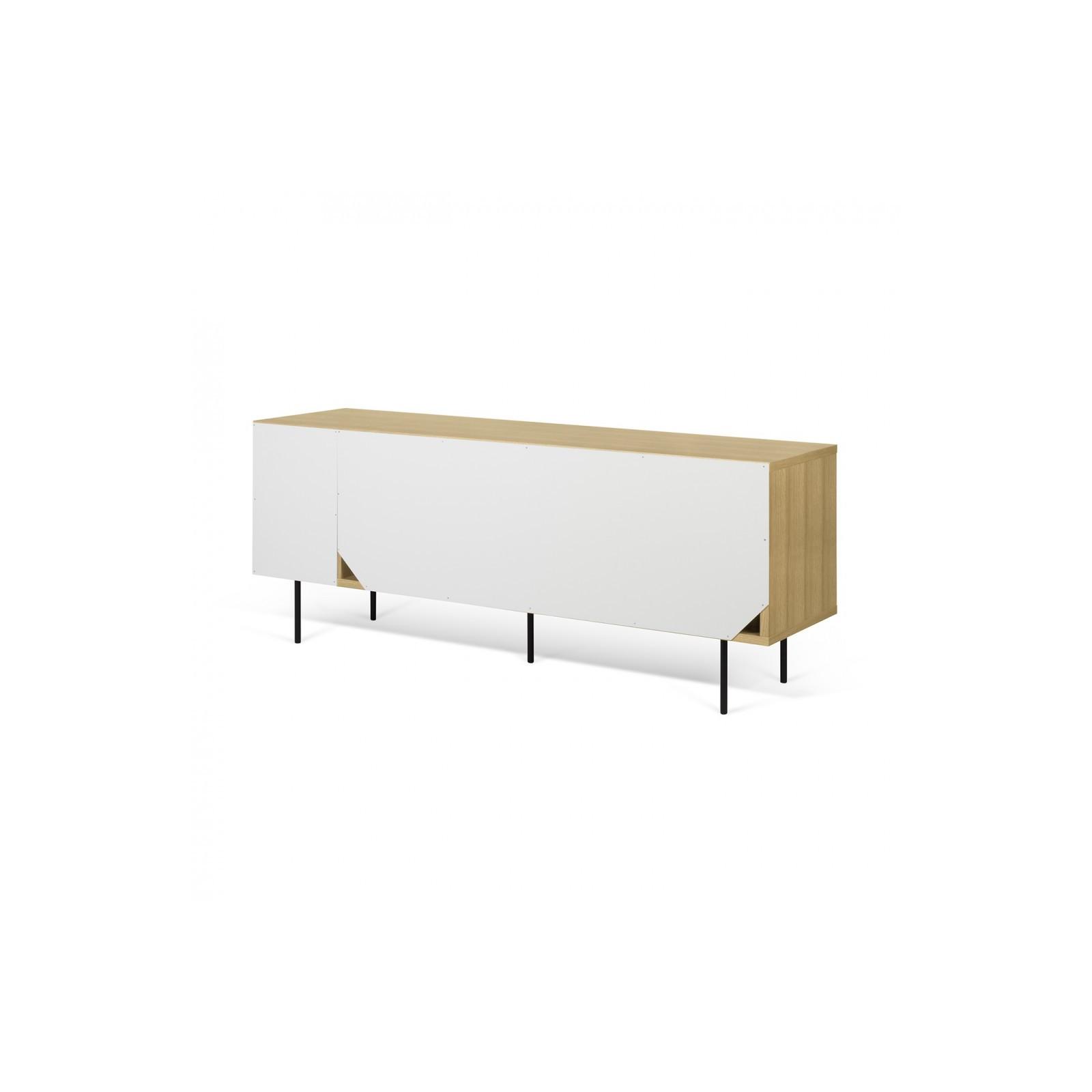 buffet danois blanc et bois arne concept. Black Bedroom Furniture Sets. Home Design Ideas