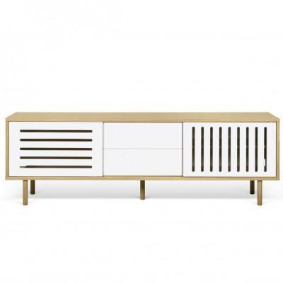 Dann sideboard 201 white and wood stripes