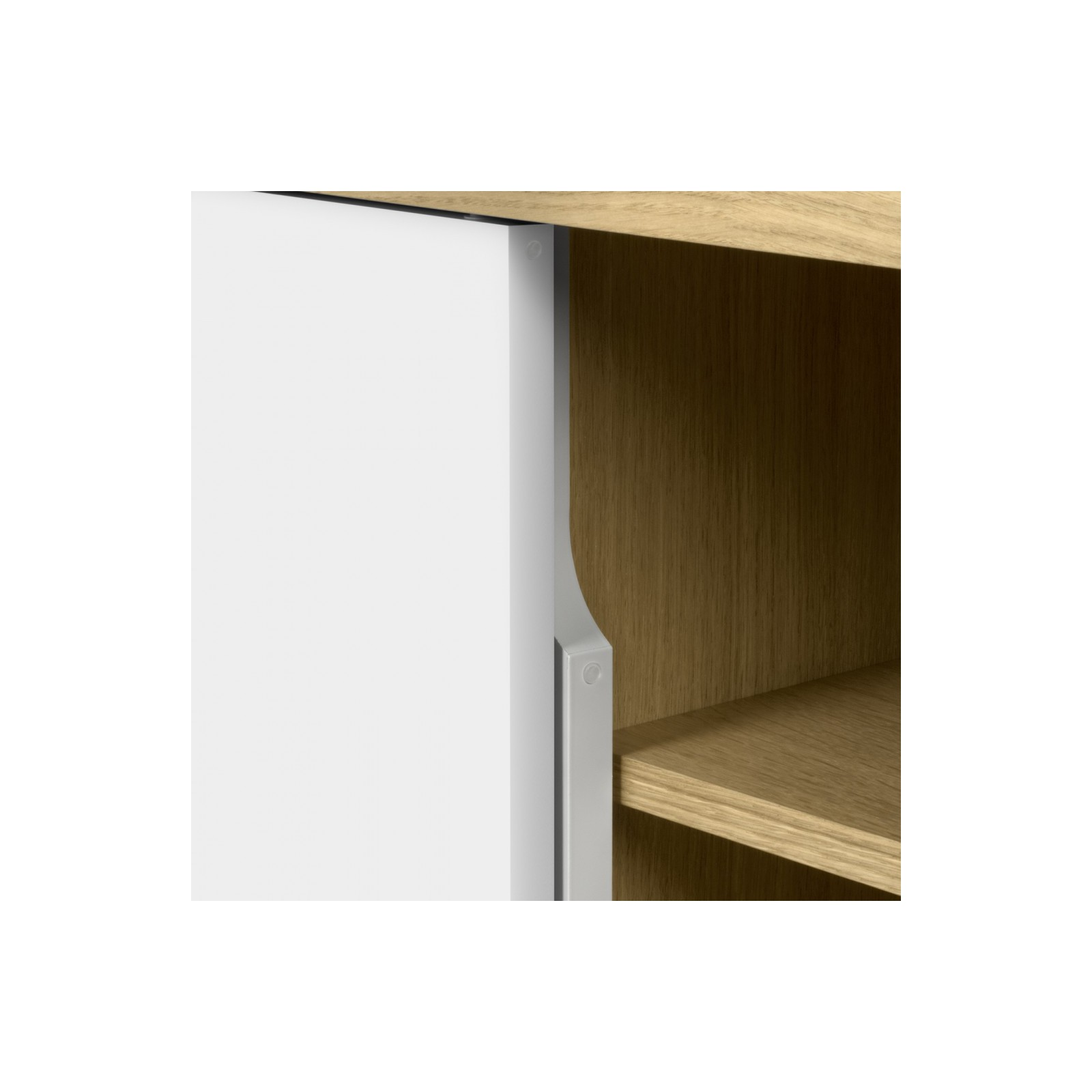 meuble tv danois blanc arne concept. Black Bedroom Furniture Sets. Home Design Ideas
