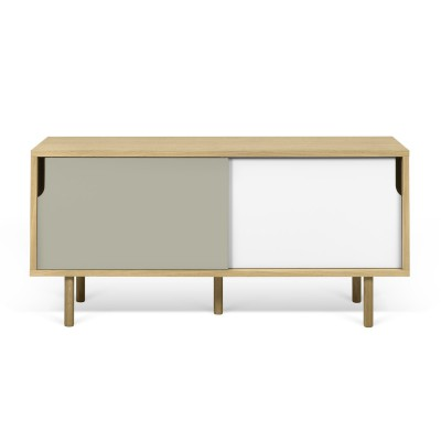Dann TV table white and grey