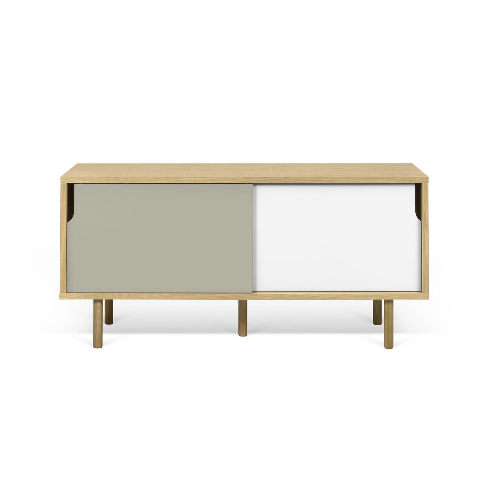 meuble tv danois blanc et gris arne concept. Black Bedroom Furniture Sets. Home Design Ideas