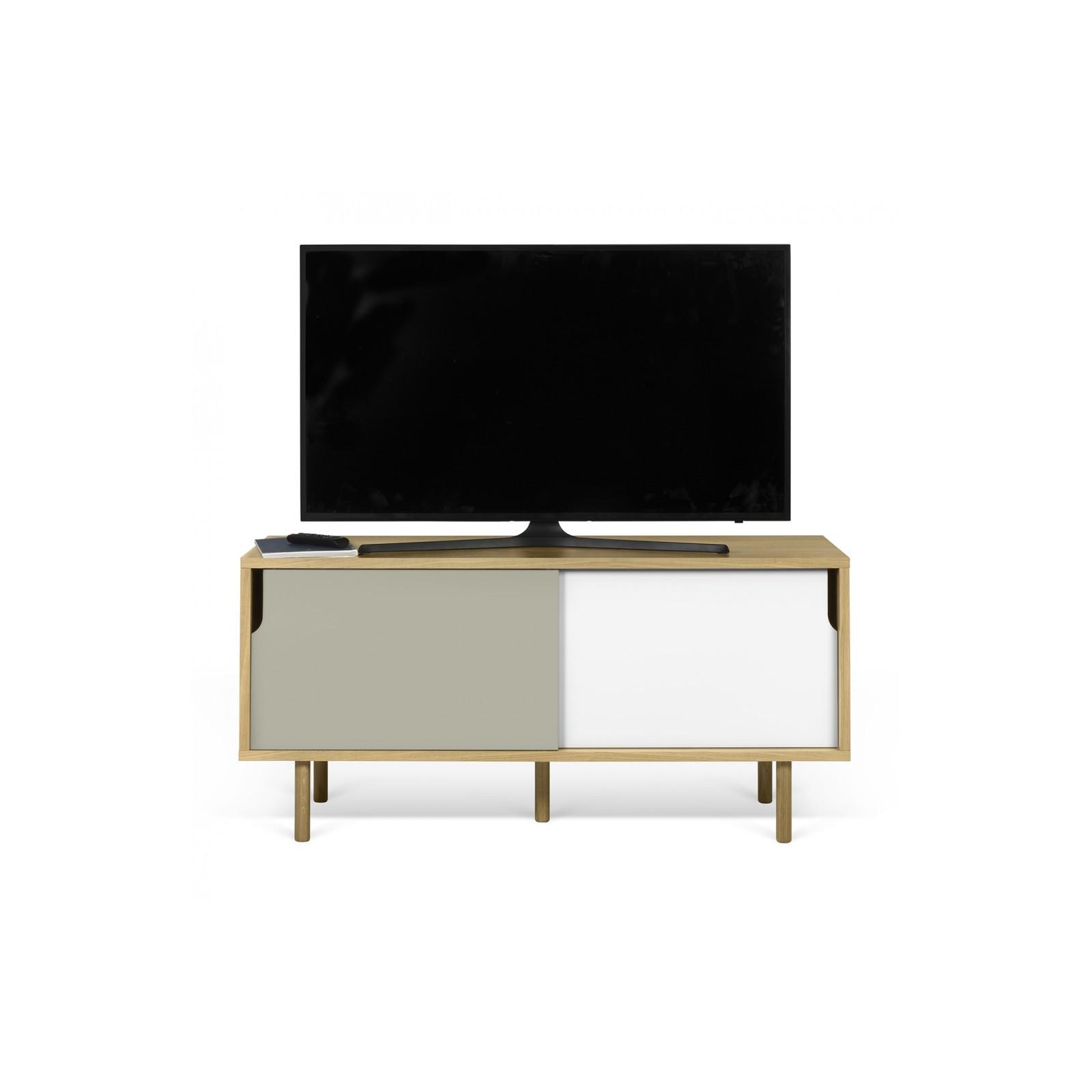 Meuble tv danois blanc et gris arne concept for Meuble tv blanc gris
