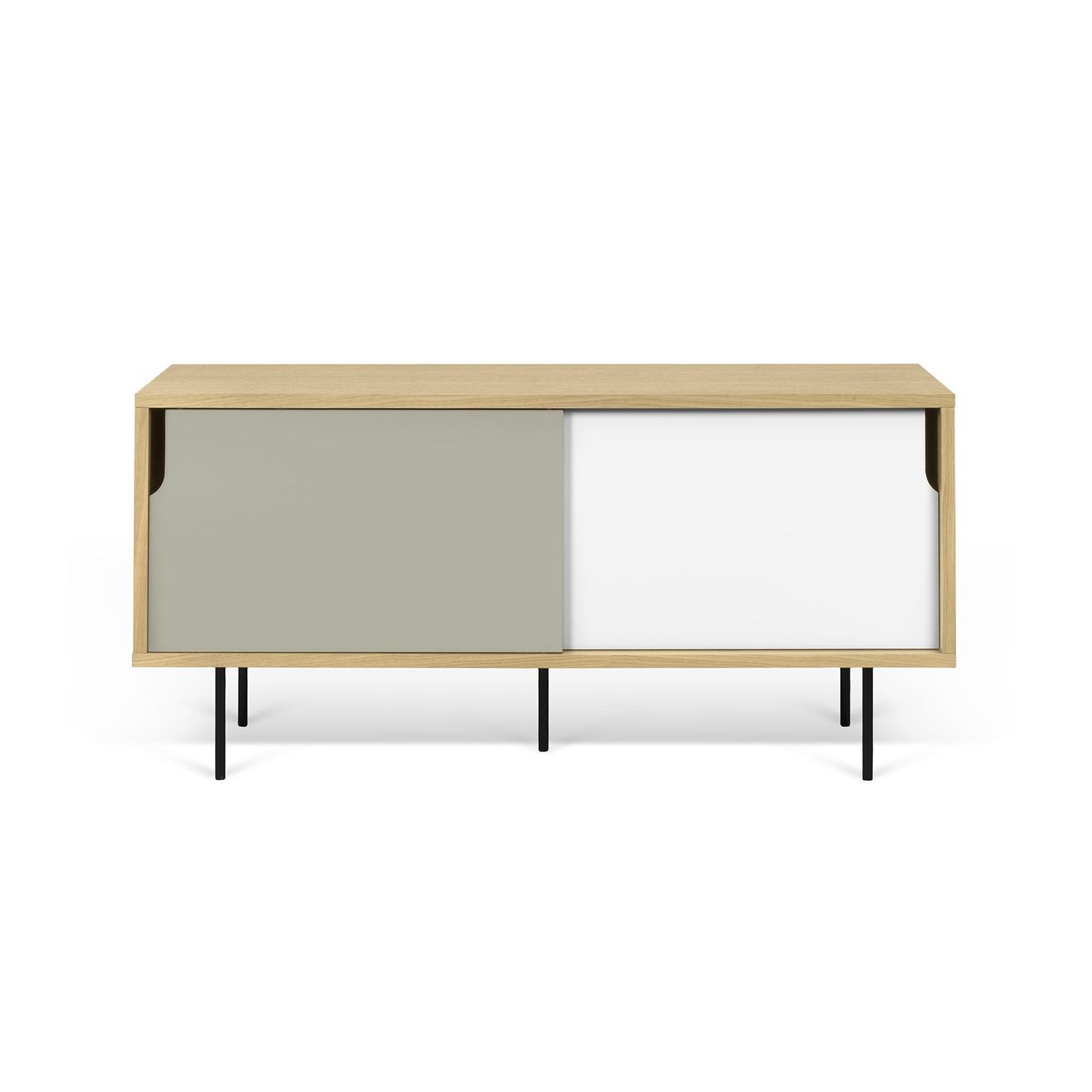 meuble tv danois blanc et gris - Meuble Danois