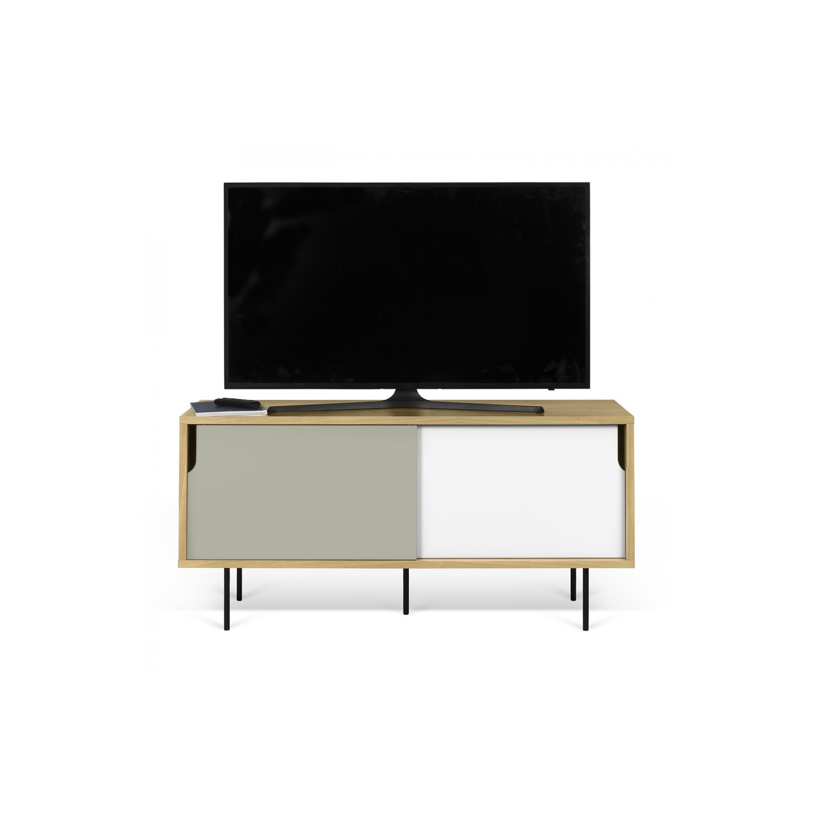 Meuble tv danois blanc et gris arne concept for Meuble tv blanc et gris