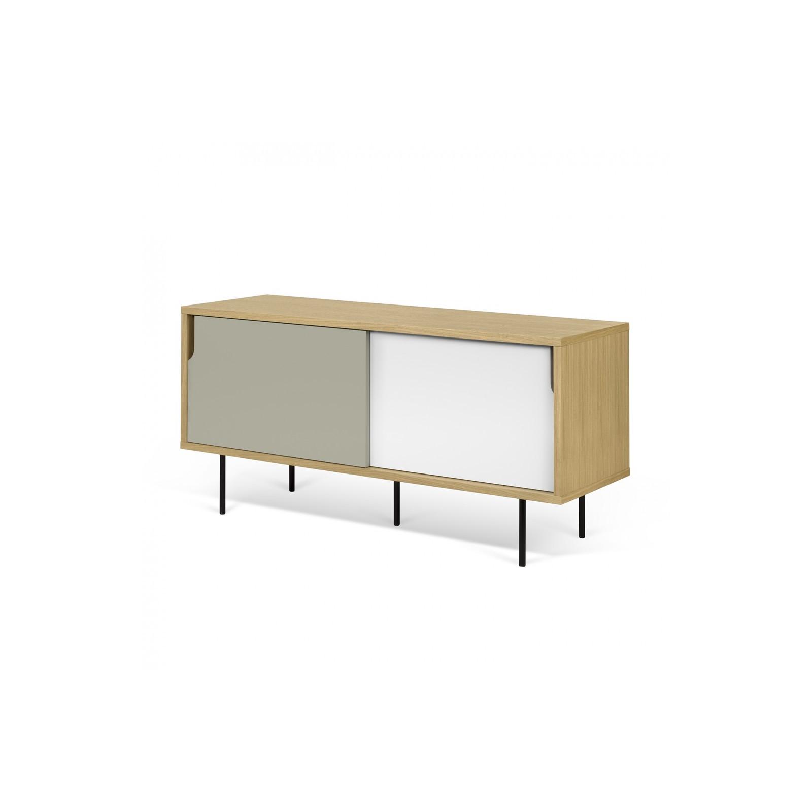Meuble tv danois blanc et gris arne concept for Meuble tv design blanc et gris
