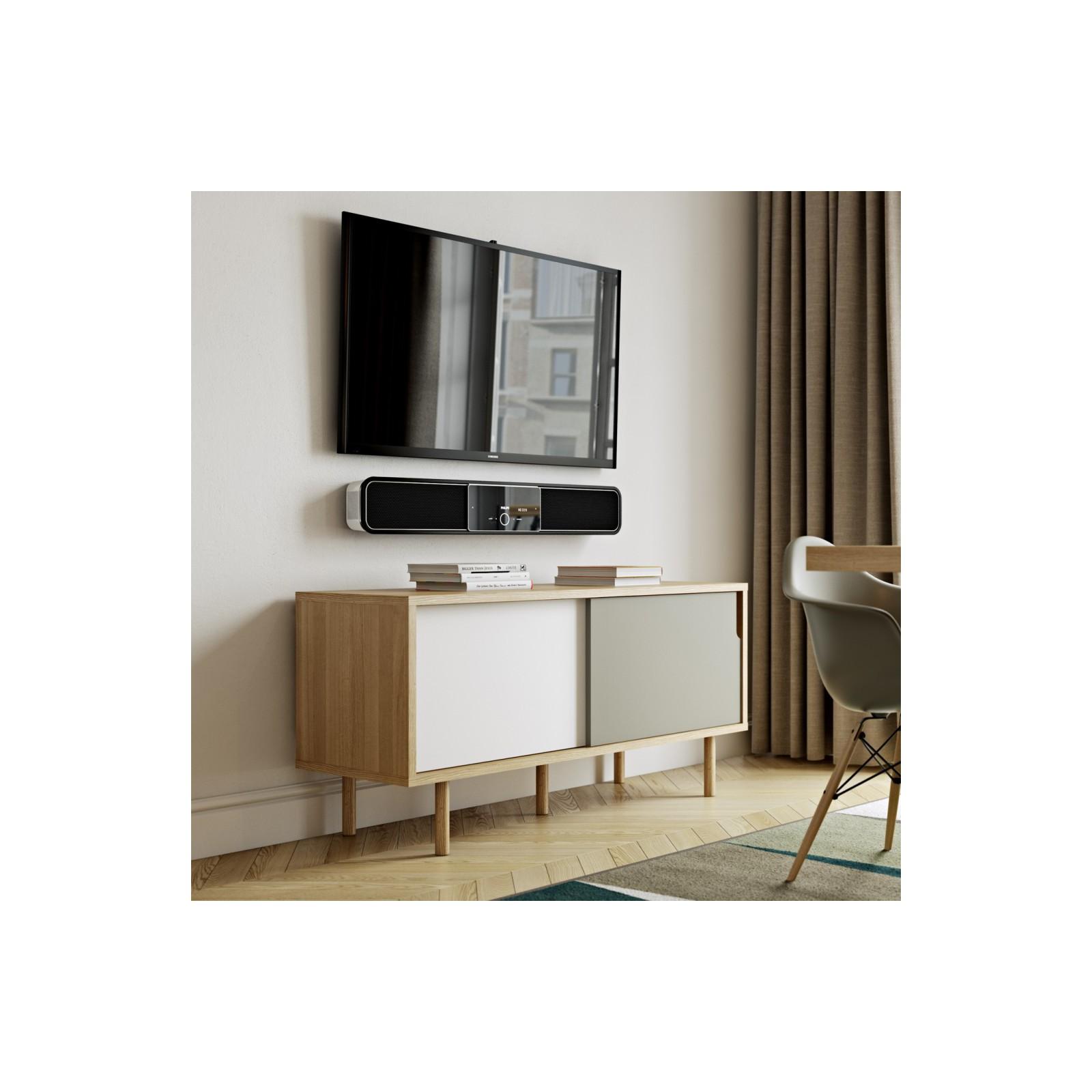 Meuble tv danois blanc et gris arne concept for Qui connait meubles concept