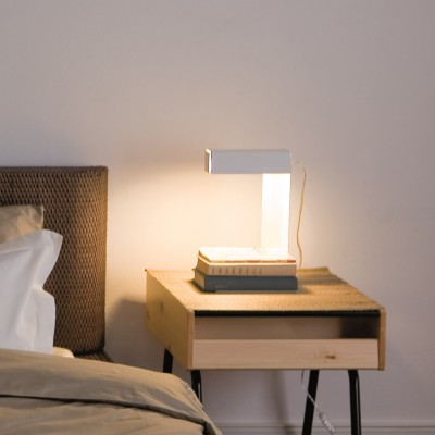 white reading lamp