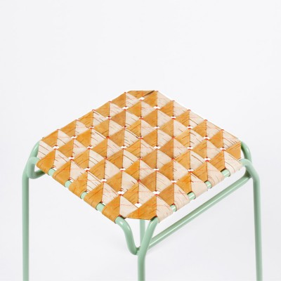 Tabouret Ecorce Orange