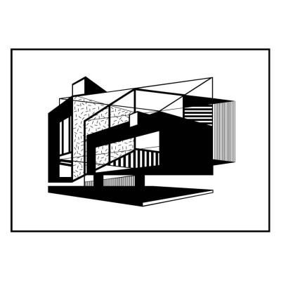 Illustration Albers House Encadrée