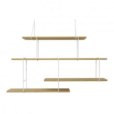 Setup 2 – Oak / white Shelves