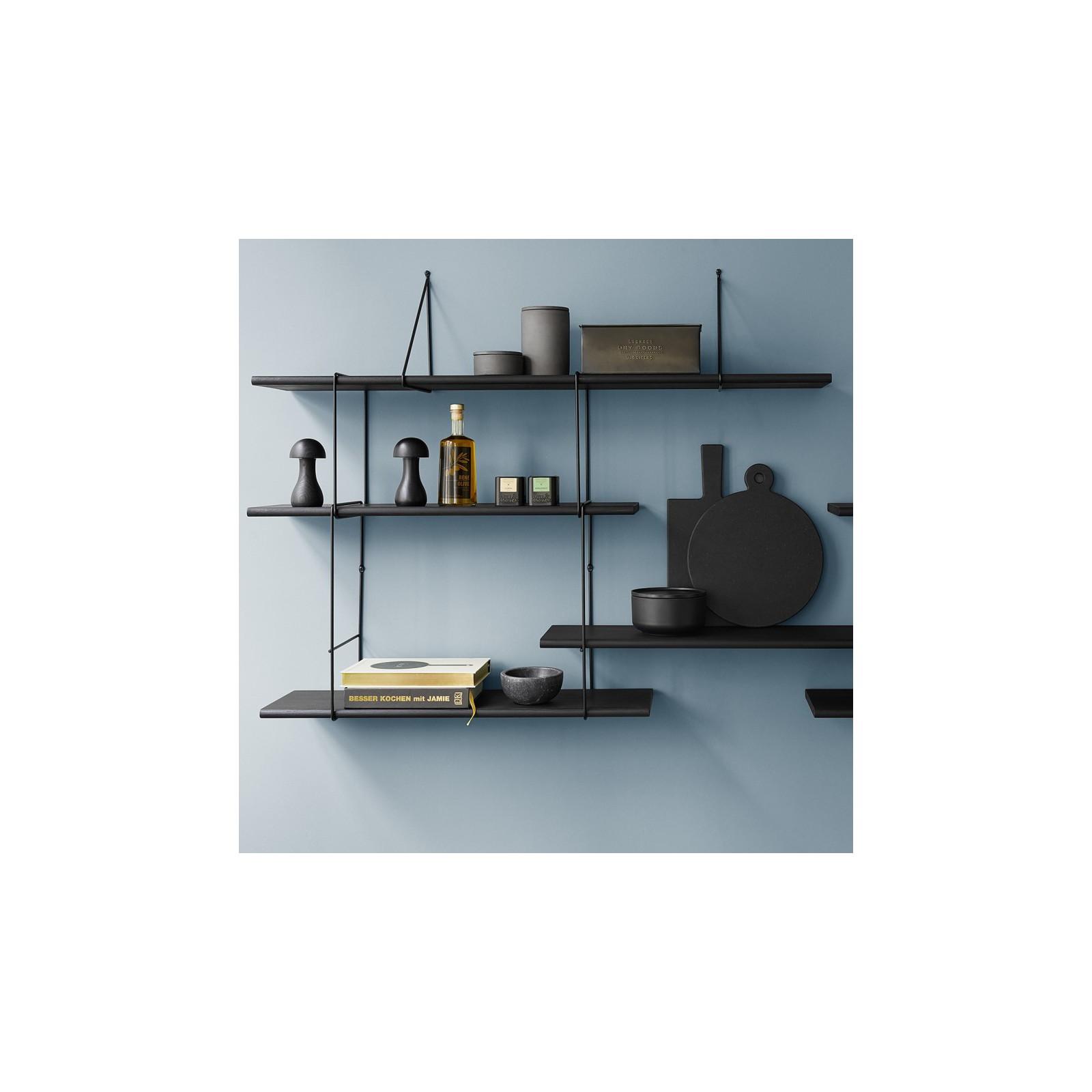 mur d 39 etag res fil total noir arne concept. Black Bedroom Furniture Sets. Home Design Ideas