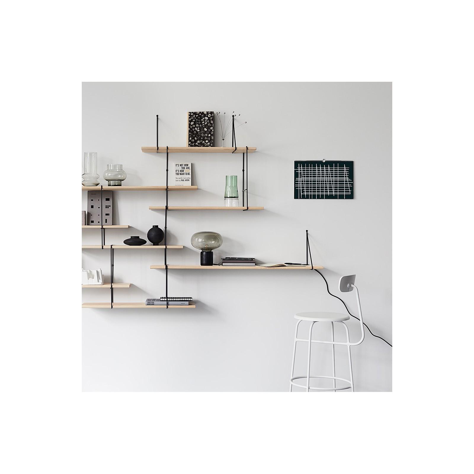 grand mur d 39 etag res fil fr ne noir arne concept. Black Bedroom Furniture Sets. Home Design Ideas