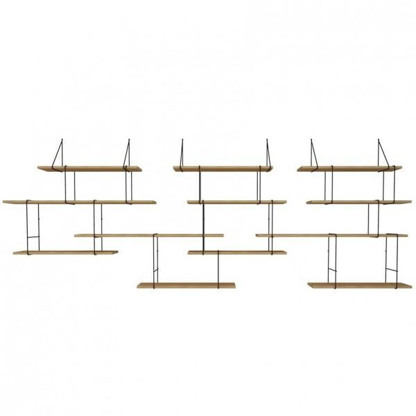 grand mur d 39 etag res fil ch ne noir arne concept. Black Bedroom Furniture Sets. Home Design Ideas