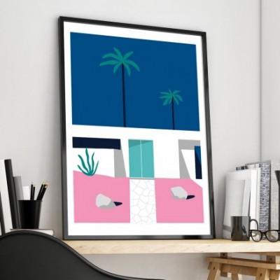 """Palm House 1"" Illustration"
