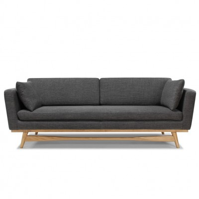 Large Vintage Sofa anthracite
