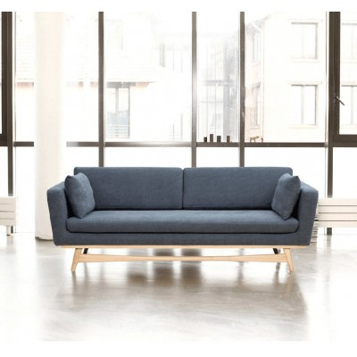 Large Vintage Sofa Blue Orage