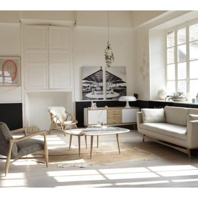 Large Vintage Sofa chalk Cotton