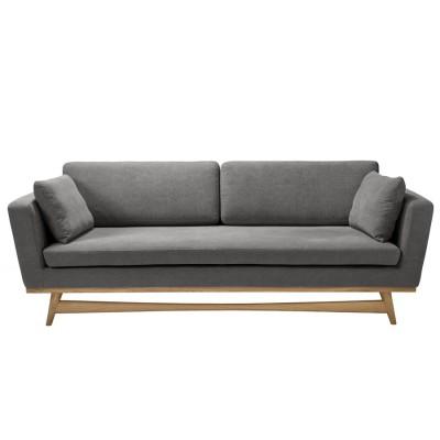Large Vintage Sofa grey Cotton