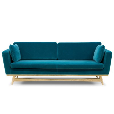 grand canap cannage velours bleu marine arne concept