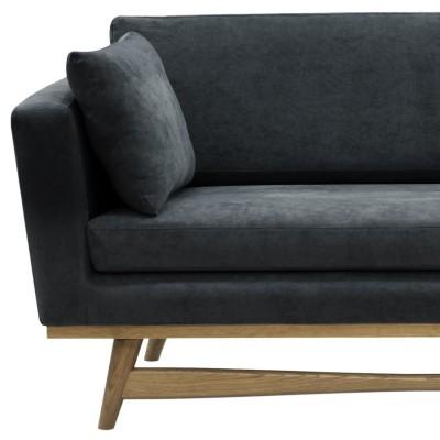 Large Vintage Sofa grey Velvet