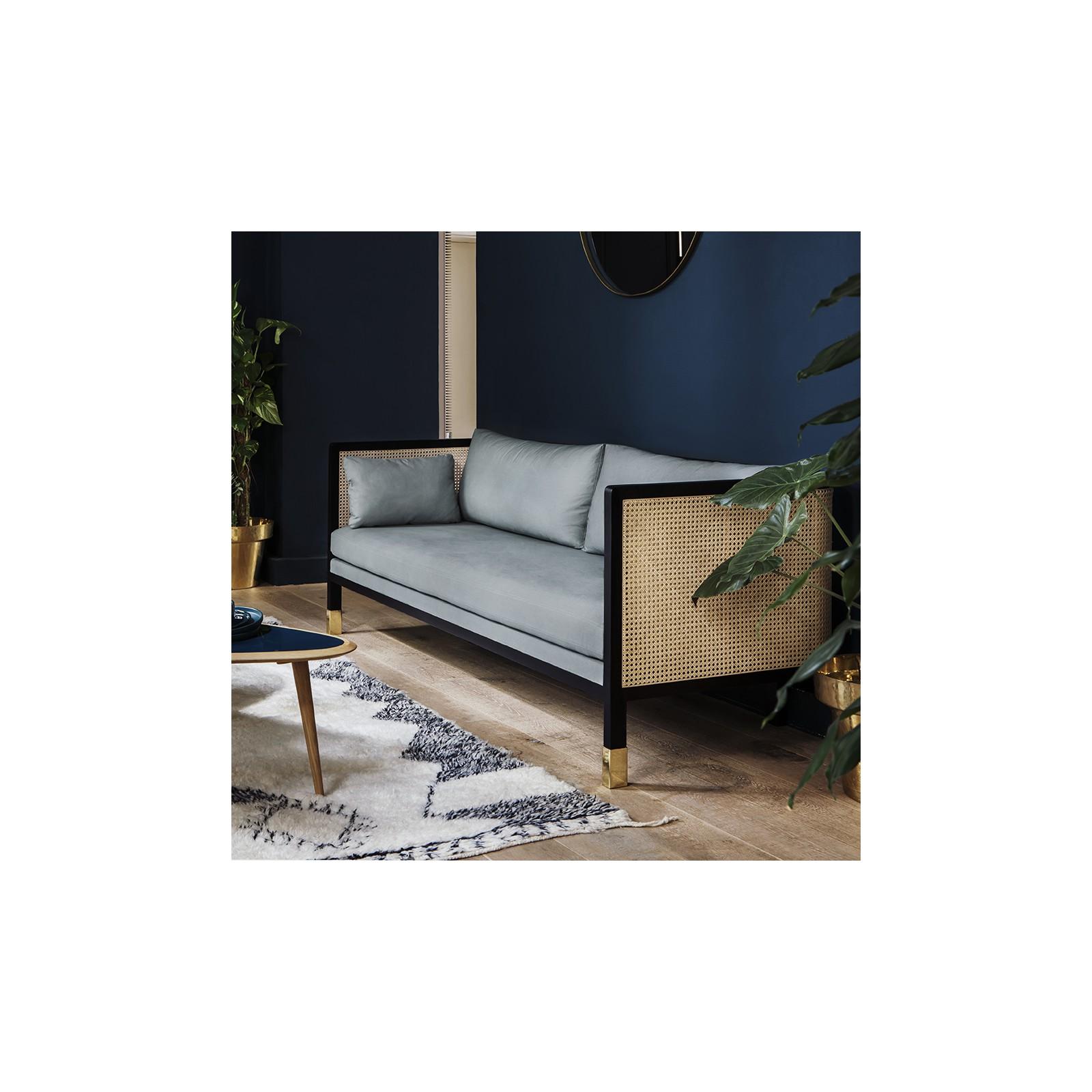large caning sofa marine velvet arne concept