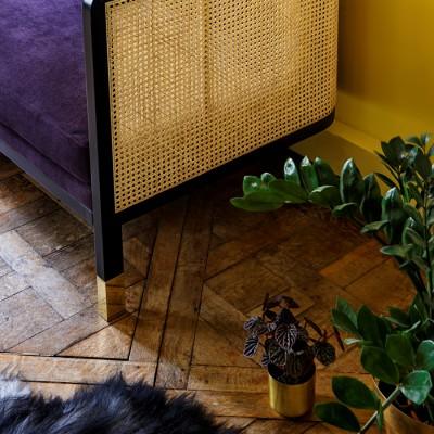 Caning Sofa Purple