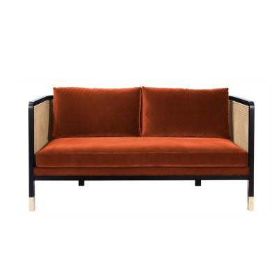 Caning Sofa fox Velvet