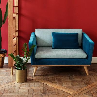 Canapé Vintage bicolore Bleu