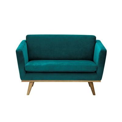Vintage Sofa blue velvet