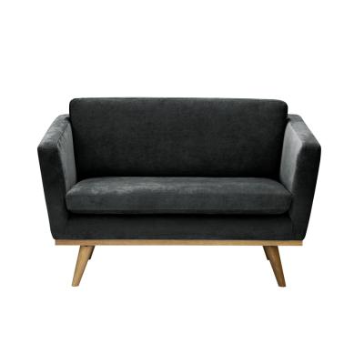 Vintage Sofa grey velvet
