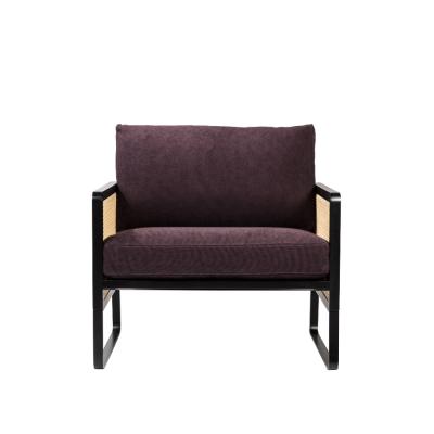 Plum Cotton Cannage Armchair