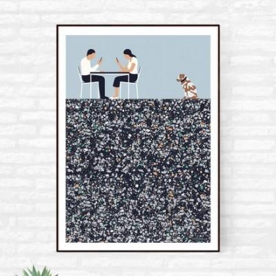 """""""Alone Together"""" illustration"""