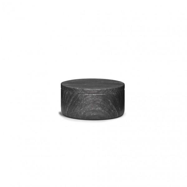 Pot couvert en marbre noir