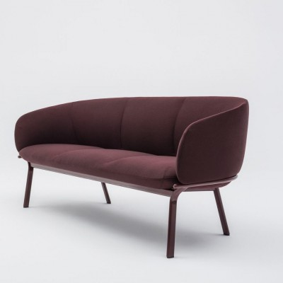 Grace Seater Sofa Burgundy