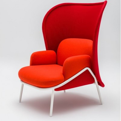 Mesh Armchair Large Shield Red