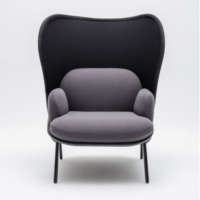 Mesh Armchair Large Shield Grey