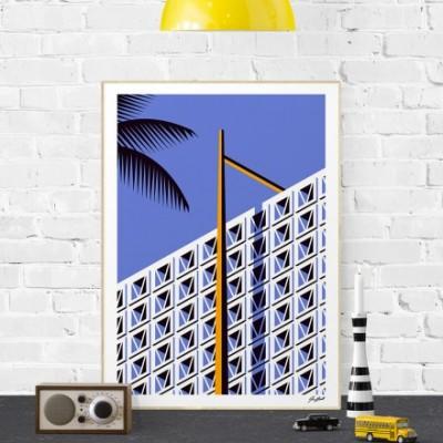 """""""Cinder block haven"""" print"""