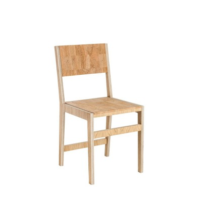 Ludity Chair Textured Leather Cork