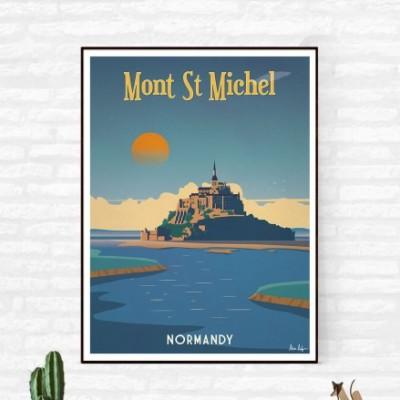 """""""Mont Saint Michel"""" Illustration"""