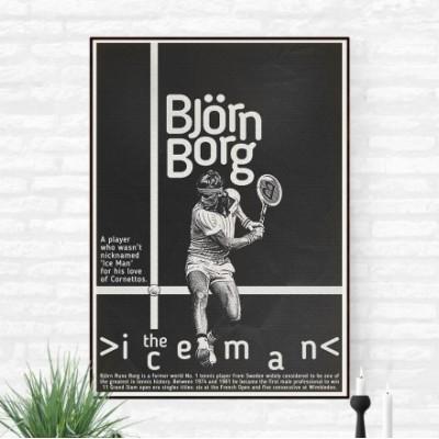 """Bjorn Borg 3"" Illustration"