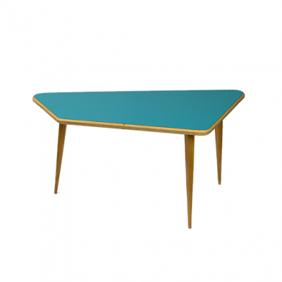 Table Trapéze bleue