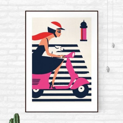 "Affiche "" Vespa Stripes"""