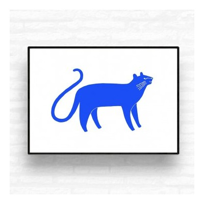 """Affiche """"Blue Panther"""""""