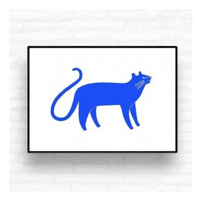 """Blue Panther"" print"